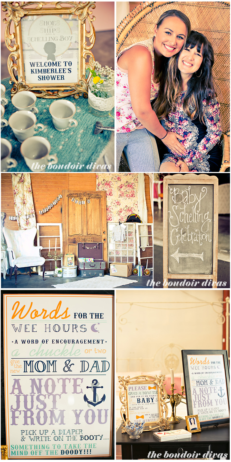 eclectic baby shower decor