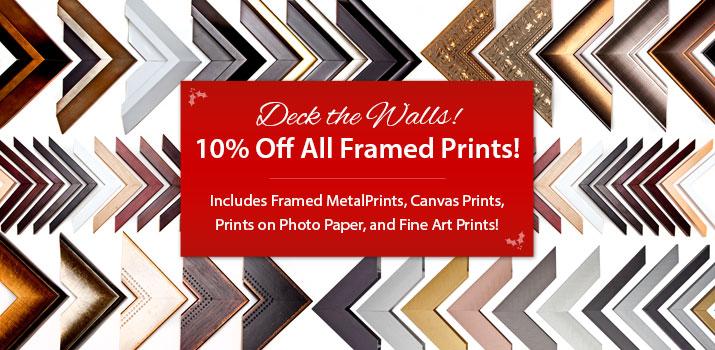 framed photo prints for christmas