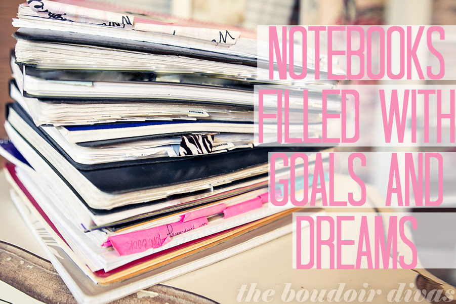 goals and dreams notebooks