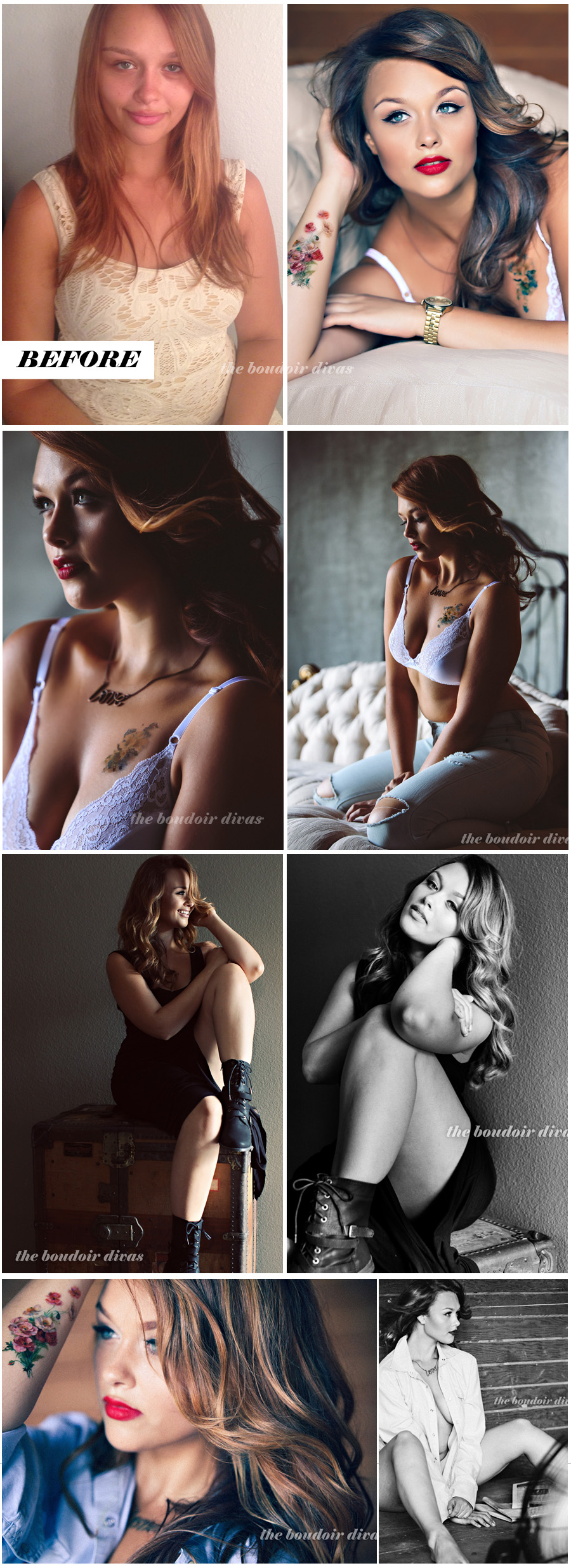 boudoir photos before and after