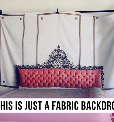 boudoir fabric backdrop