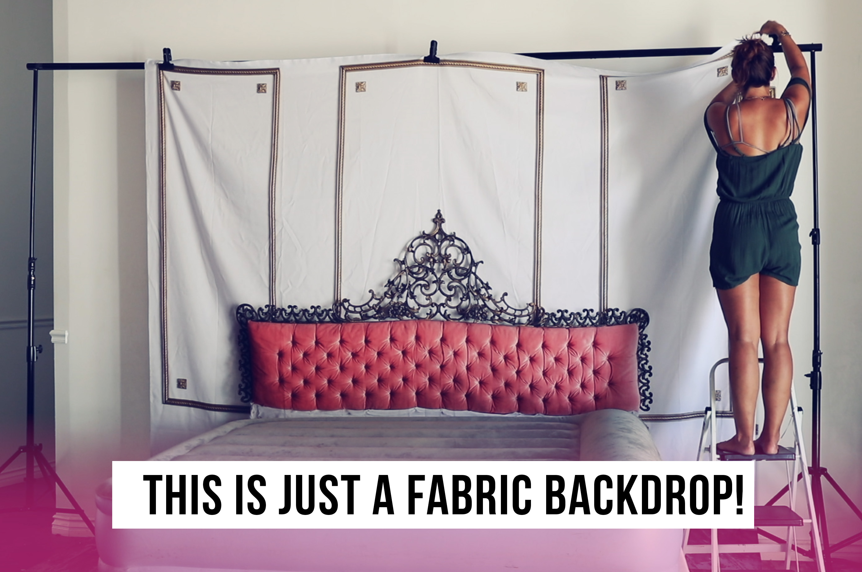 boudoir fabric backdrop